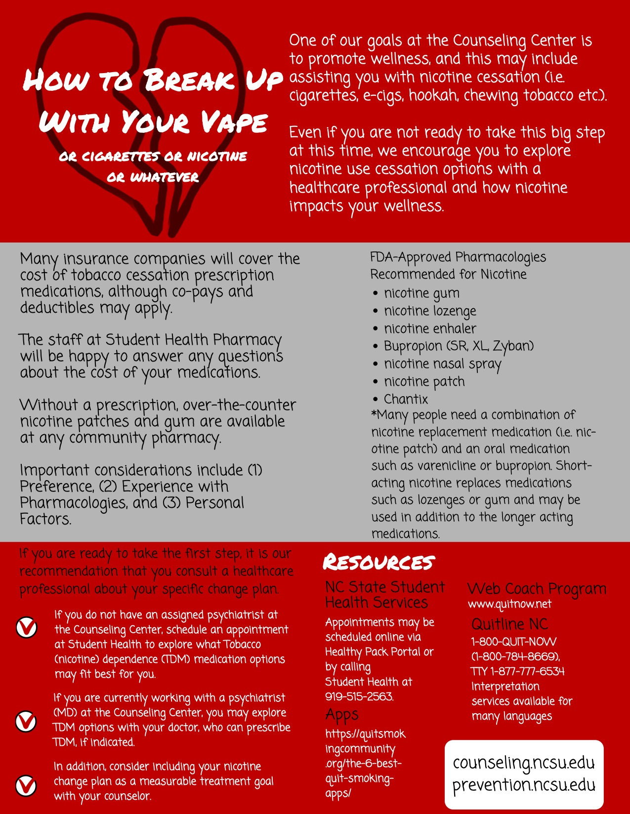 infographic about how to break up with your vape